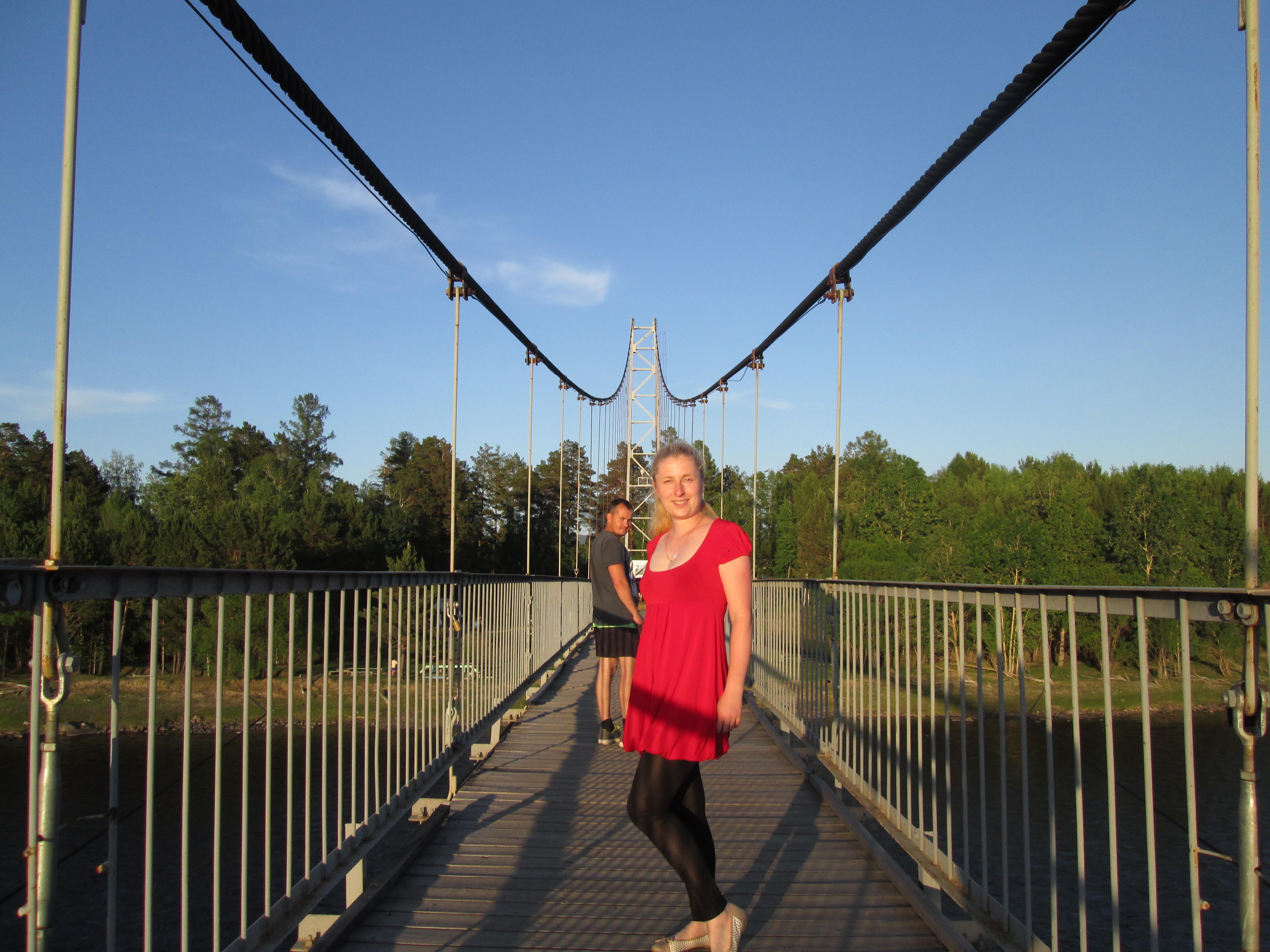 Село Шаманка (Шелеховский район)- пешеходный мост