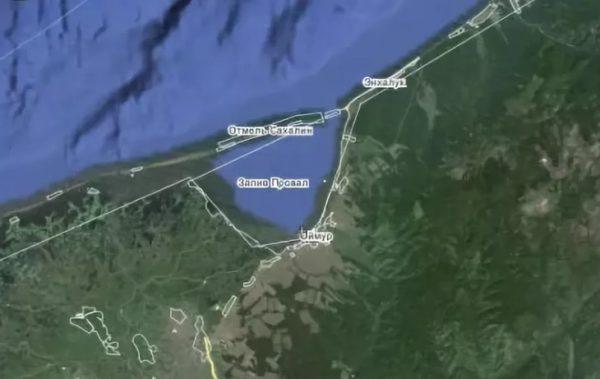 Карта залива Провал на Байкале